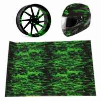 PVA 0.5*1.5m Green Fire Hydrographic Water Transfer Film Hydro Dipping Print Car
