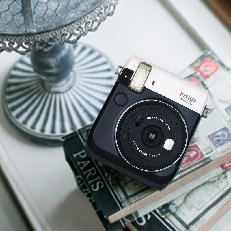 6 couleurs bloquant l'appareil Photo instantané Fujifilm Instax Mini 70 rouge noir bleu jaune or blanc - 4