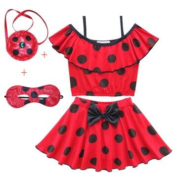 Ladybug Vaiana Bikini Vestido Una Traje Niñas De Moana Pieza Niños Baño Rc354jALq