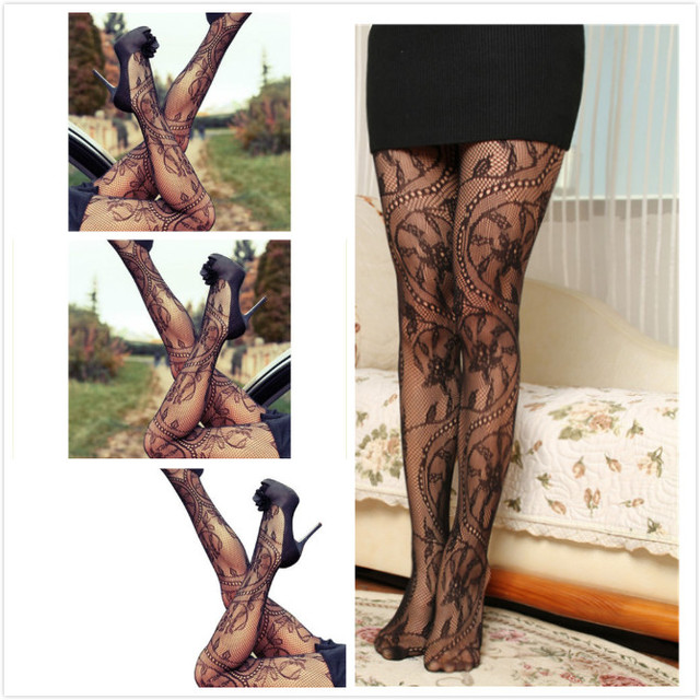 2019 New Women Sexy Hot Lace Jacquard Lingerie Ladies Thigh-Highs Stockings Tights Thin Pantyhose Lace Floral Hosiery