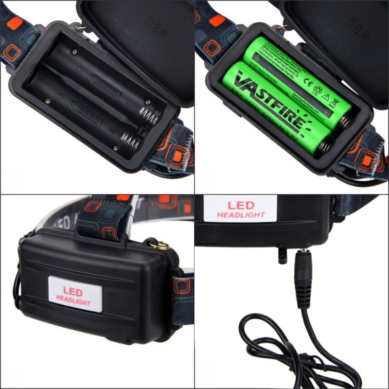 Купить с кэшбэком 2 Piece/lot USB 10W 2000LM Brightness 5 Modes Zoomable Headlight 3X XM-L T6 LED Headlamp Biking+Rechargeable 18650