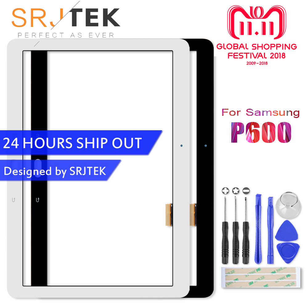 for samsung galaxy note 10 1 sm p600 p605 p6000 lcd display panel with touch screen digitizer assembly 100% new replacement Srjtek 10.1 For Samsung Galaxy Note 10.1 SM-P600 P600 P601 P605 Touch Screen Digitizer Glass Panel Sensor Tablet PC Replacement