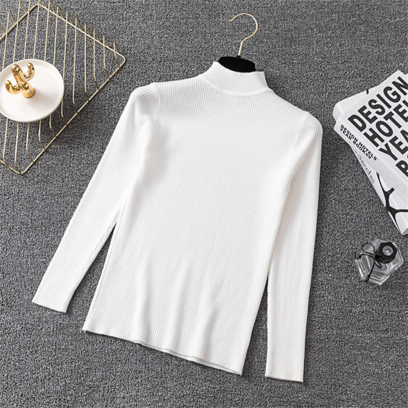 Winter Knitting Sweater Pullovers Women Long Sleeve Tops Turtleneck Knitted Sweater Chic Woman Clothes Female Casual Streetwear #5