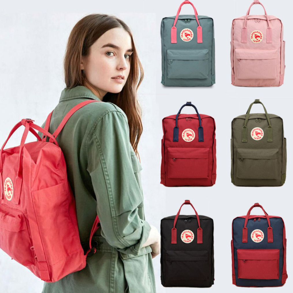 Classic Student Backpack Children Men Women Waterproof Kanken Backpacks Mochila Casual Travel Backpack Bag Parts Accessories