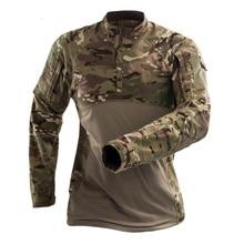 Камуфляжные армейские футболки военные тактическая рубашка с длинным рукавом MultiCam камуфляж армейские быстросохнущая для пеших прогулок и охоты рубашки