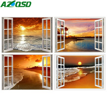 AZQSD Diamond Painting Seaside Embroidery Scenery Full Square Picture Of Rhinestones Home Decoration Gift Needlework