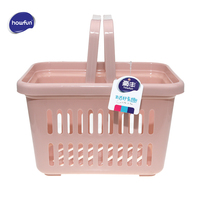 Howfun Storage Baskets, Eco friendly plastic basket for bathroom kitchen, storage basket with Handle, rangement salle de bain