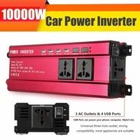 Peak 6000W Car Solar Power Inverter DC 12V to AC 200 240V Sine Wave USB Converter Voltage Transformer USB Modified Sine Wave