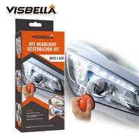 Kit de pasta de pulido de faro VISBELLA sistema de almacenamiento de faros DIY para reparación de cuidado del coche juego de herramientas manuales