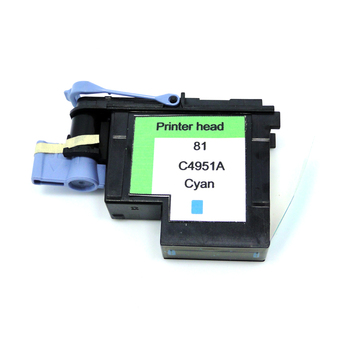 YOTAT 1pcs Cyan remanufactured C4951 for HP81 print head for HP Designjet 5000 5000ps 5500 5500ps