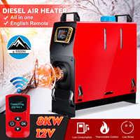 Tout en un 8000W Air diesels chauffage 8KW 12V un trou voiture chauffage pour camions camping-cars bateaux Bus + LCD interrupteur à clé + anglais à distance