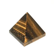 Natural Yellow Tiger Eye Pyramid Decoration Wholesale Stone