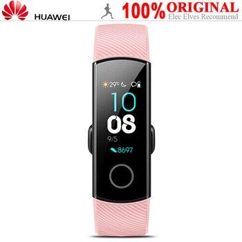 Смарт-часы HUAWEI Honor 4 многофункциональный спортивный браслет AMOLED 50 м водонепроницаемый IP68 шагомер >> Elec Elves Store