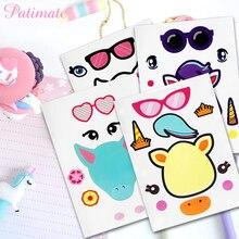 PATIMATE 5pcs DIY Unicorn Stickers Party Decor Kids Birthday Decorations  Baby Shower Decoration