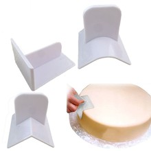 Plastic Cake Smoother Fondant Promotion With Square Right Angle Polisher Smooth Tools Surface Polishing