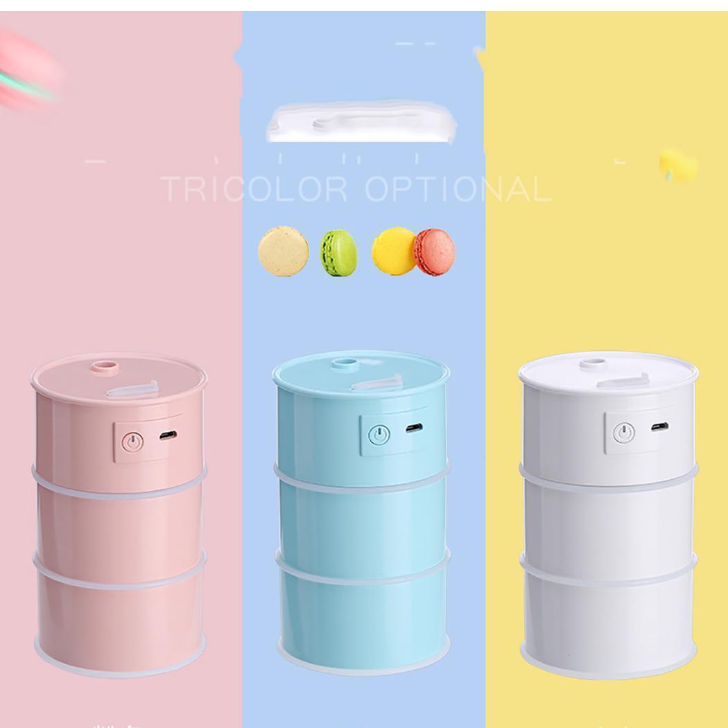 3 in 1 175ML USB Air Humidifier Ultrasonic Cool-Mist Drum Mini Humidifier With LED Light Mini USB Fan