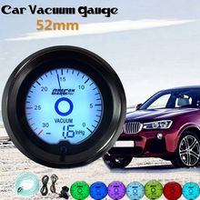 Универсальный 2 дюйма 52 мм автомобиля вакуумметр 0~ 30 В. Hg цифровой светодиодный фонарь Дисплей