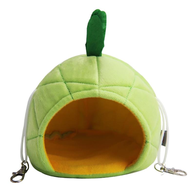 Creative Pineapple Cartoon Small Animal Cute Hamster Bed Hanging Bed House Warm Hedgehog Guinea Pig Bed For Small Breed