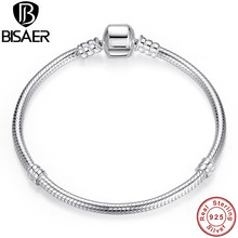 d46505ba12a3 BISAER genuino pulsera de plata 925 de joyería de cadena de serpiente  brazalete y pulsera de plata 925 joyería Original regalo d.