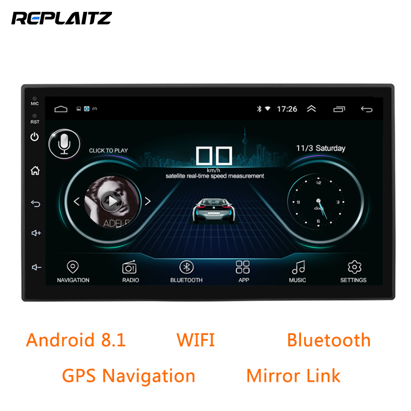 2 Din Autoradio Android 8.1 Universele Gps Navigatie Auto Multimedia Bluetooth Touchscreen Wifi Car Audio Stereo Fm Mp5 Speler