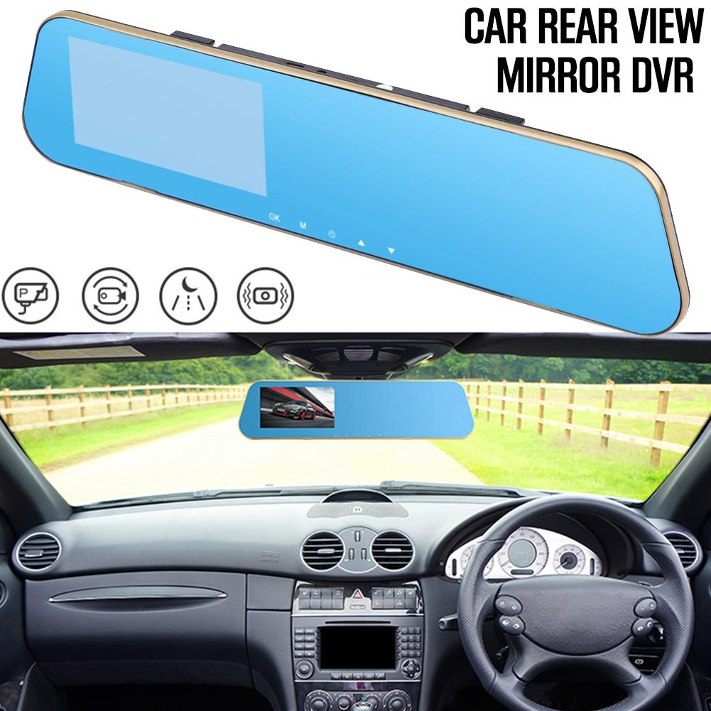 Hd Night Vision Automobile Data Recorder 4.3 Inch Driving Recorder Rearview Mirror Dual Lens Anti-vibration Car Dvr Portable Elegant In Style