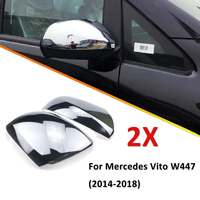 ABS Chrome Mirror Cover Shell Cap Trim Set For Mercedes Vito W447 2014 2015 2016 2017 2018