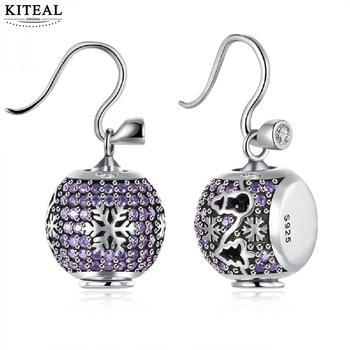 KITEAL 925 Gorgeous  925 sterling silver in jewelry Purple female 2019 women's earring  aretes Jewelry European Style