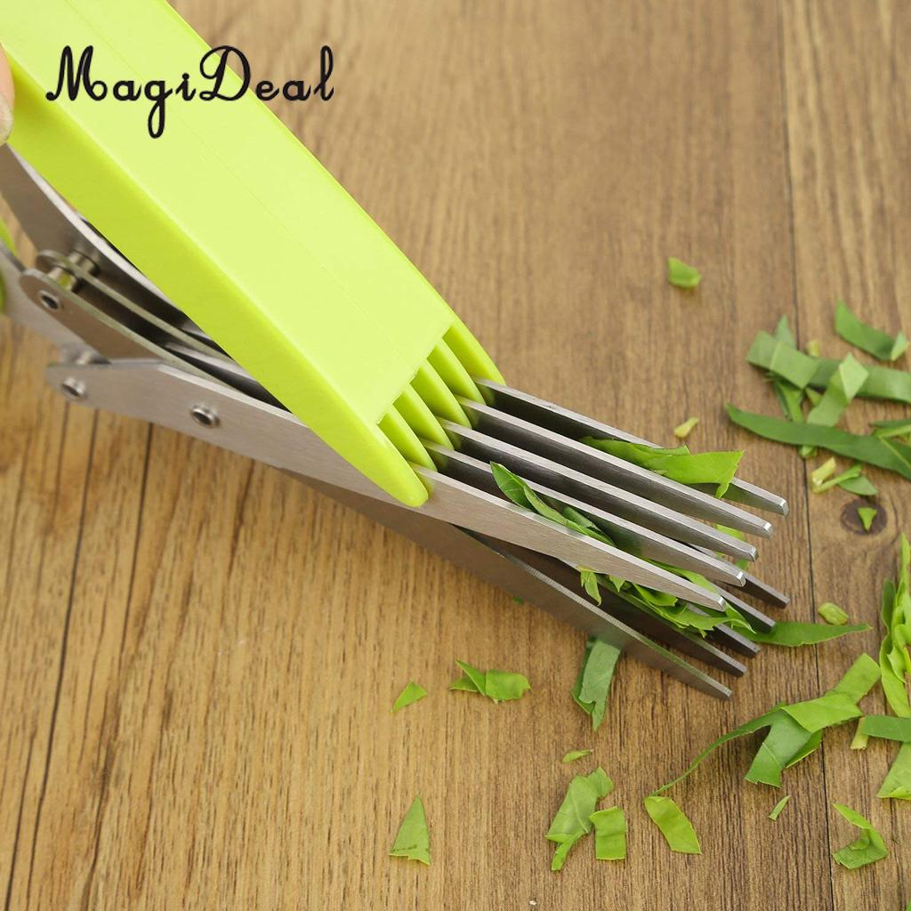 100% Quality Kitchen Shallot Scissors 5 Layers Hreb Cutter Green Onion Herb Cutlery Sharp Dishwasher Safe Mincer Culinary Chopper By Scientific Process