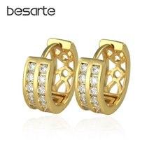 Золотые серьги кольца для женщин роскошные в африканском стиле