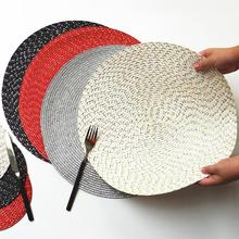 PP Wire Woven Placemat Childrens Table Round Oval Kitchen Dinner Handmade Pad Dropshipping