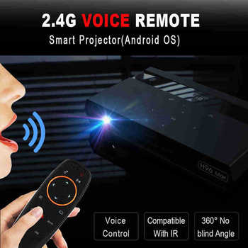H96 Max Led Portable Home Theater Hd Mini Smart Press Keys Dlp Projector Amlogic S912 8 Core Cpu Android 6.0 2Gb+16Gb With Blu