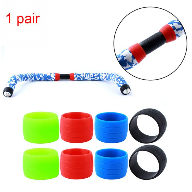 2PCS Handlebar Tape Fixing Ring Fasten Round Accessory Bicycle Elastic Silicone Anti-slip Road Bike Fixed Collar