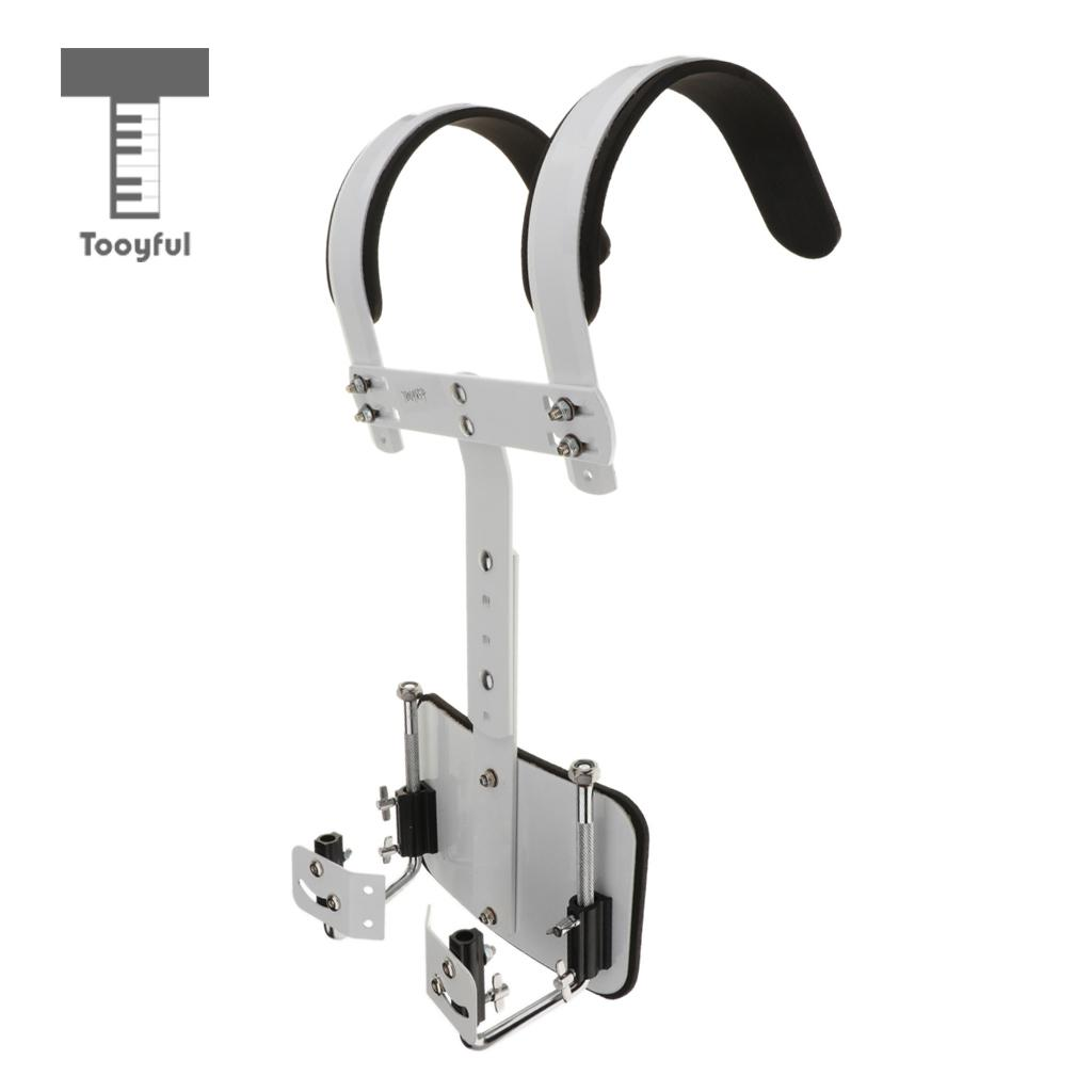 Tooyful Adjustable Aluminium Alloy Marching Small Snare Drum Carrier Holder for Drummer Percussion Accessory