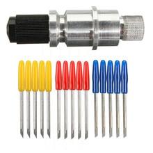 5 шт. 30/45/60 градусов виниловый плоттер лезвия+ лезвие держатель для CB09 Вольфрам Сталь фреза