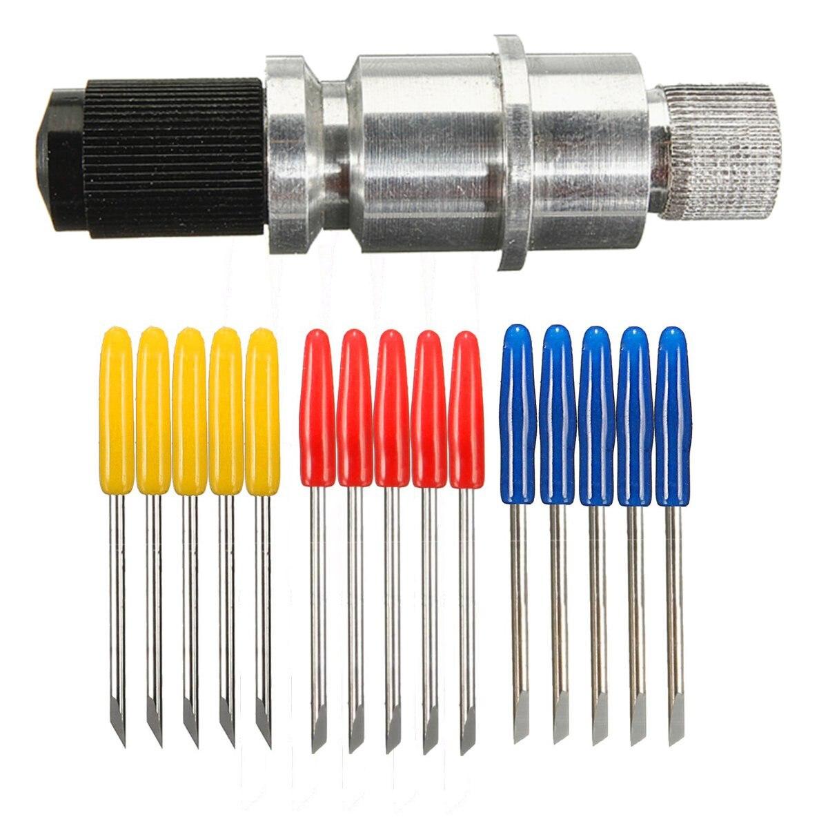 5 pces 30/45/60 graus de vinil cortador plotter lâminas + suporte da lâmina para graphtec cb09 tungstênio aço fresa