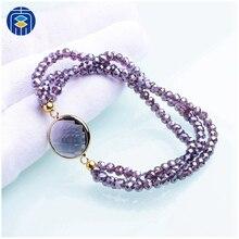 92c4f195923f Nuevo llegado de vidrio con cuentas de cristal pulseras de cuerda colorido  pulsera de mujer pulsera hecha a mano para niñas