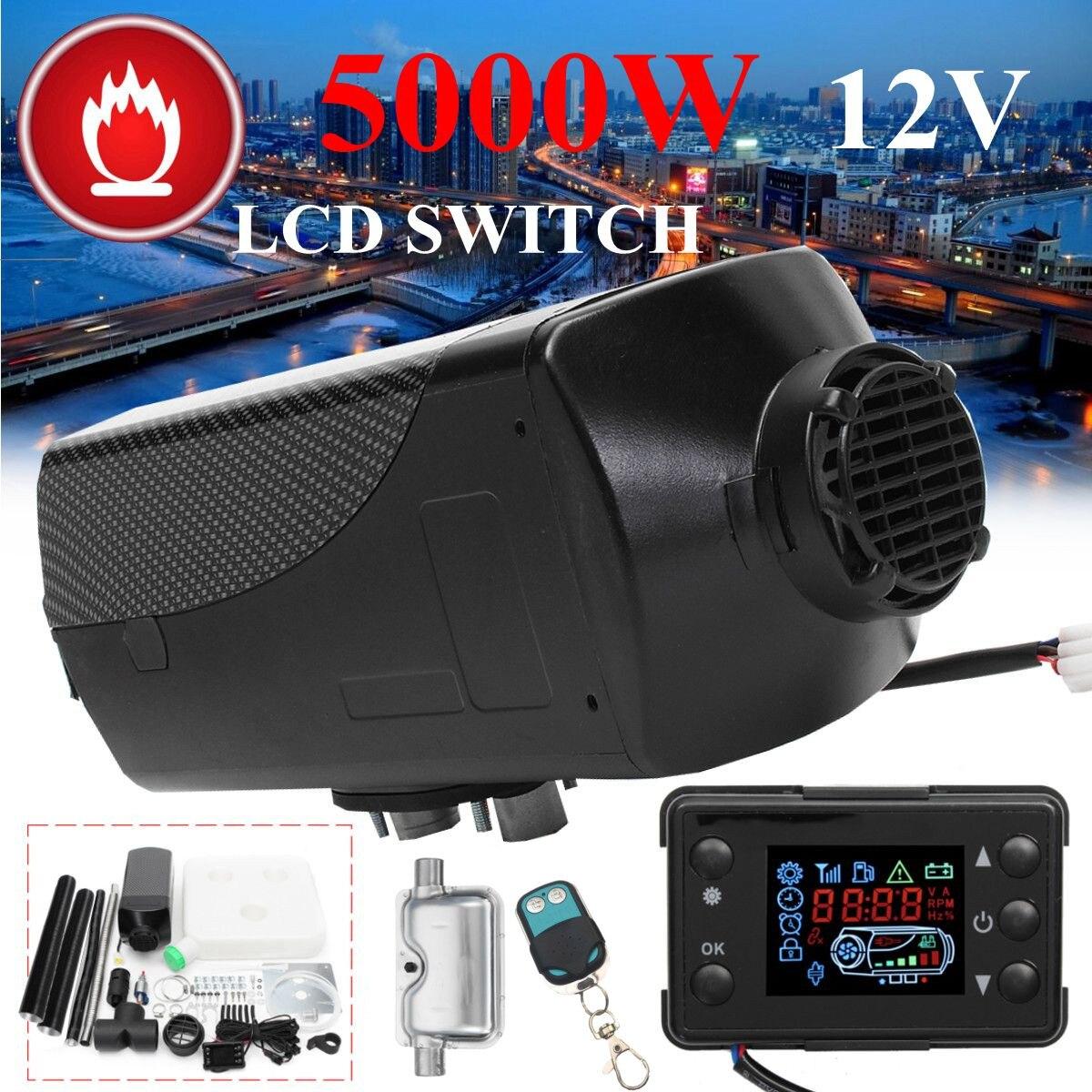 Réchauffeur de voiture 5KW 12 V Air Diesels chauffage de stationnement avec télécommande moniteur LCD pour vr, camping-Car remorque, camions, bateaux - 2