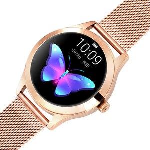 Image 2 - Moda inteligentny zegarek kobiety KW10 IP68 wodoodporna wielu trybów sportowych krokomierz z pomiarem akcji serca bransoletka Fitness dla pani