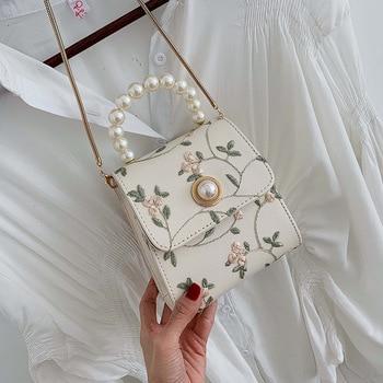 Pearl Leather Crossbody Bags For Women 2020 Luxury Handbags Designer Ladies Hand Tote Shoulder Messenger Bag Sac A Main Female