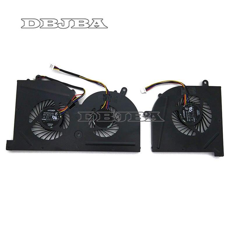 Nouveau Ventilateur De Refroidissement POUR MSI GS63 GS63VR GS73 GS73VR MS-16K2 MS-17B BS5005HS-U2L CPU + GPU
