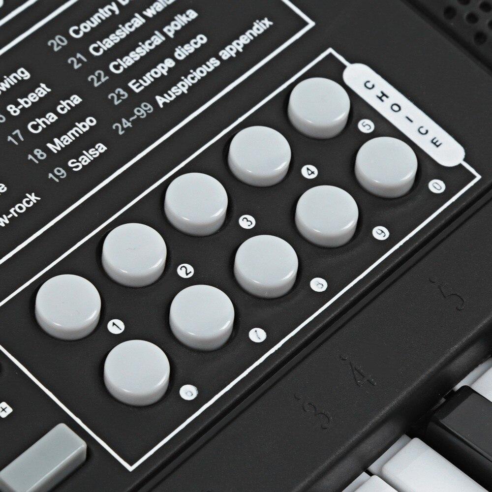 61 clés électronique orgue clavier Piano enfants Instrument de musique jouet pour enfants numérique musique jouets noël cadeau d'anniversaire - 5