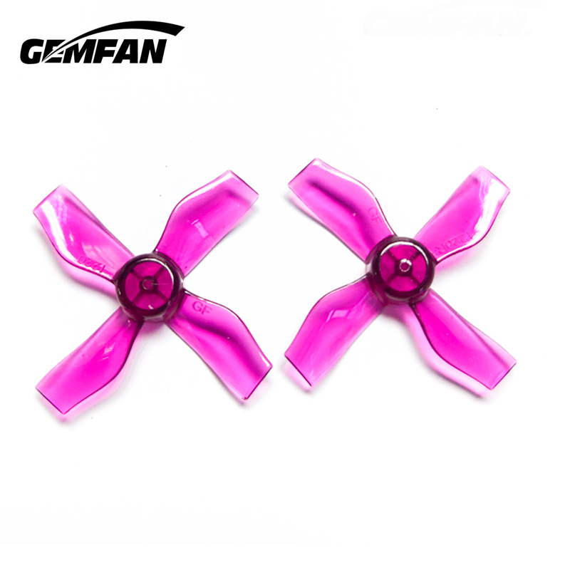 4 Pairs Gemfan <font><b>1220</b></font> 1.2x2x4 31mm 1mm Hole 4-blade Propeller for 0703-1103 RC Drone FPV Racing Brushless <font><b>Motor</b></font> Spare Parts Accs image