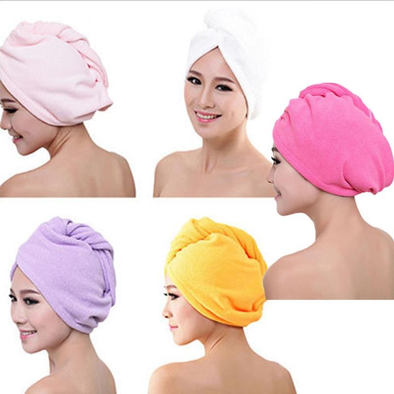 Microfiber Hair Wrap Towel Drying Bath Spa Head Cap Turban Twist Dry Shower YD