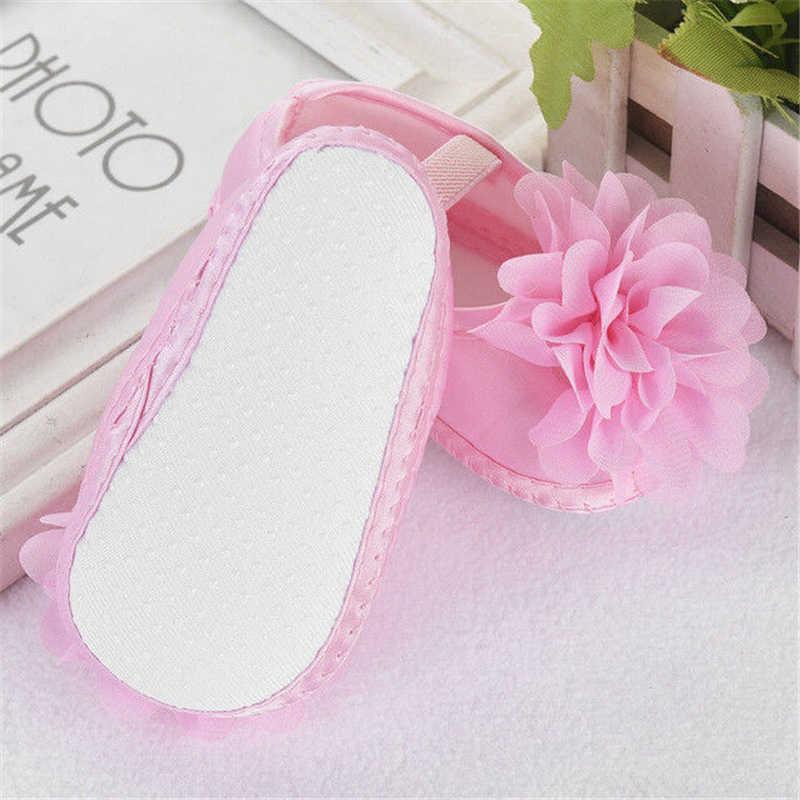 เด็กสาวน่ารักรองเท้า Crib 3D ดอกไม้เจ้าหญิงรองเท้าสบายๆ Soft Sole Anti-slip ทารกแรกเกิด prewalkers 0-18M