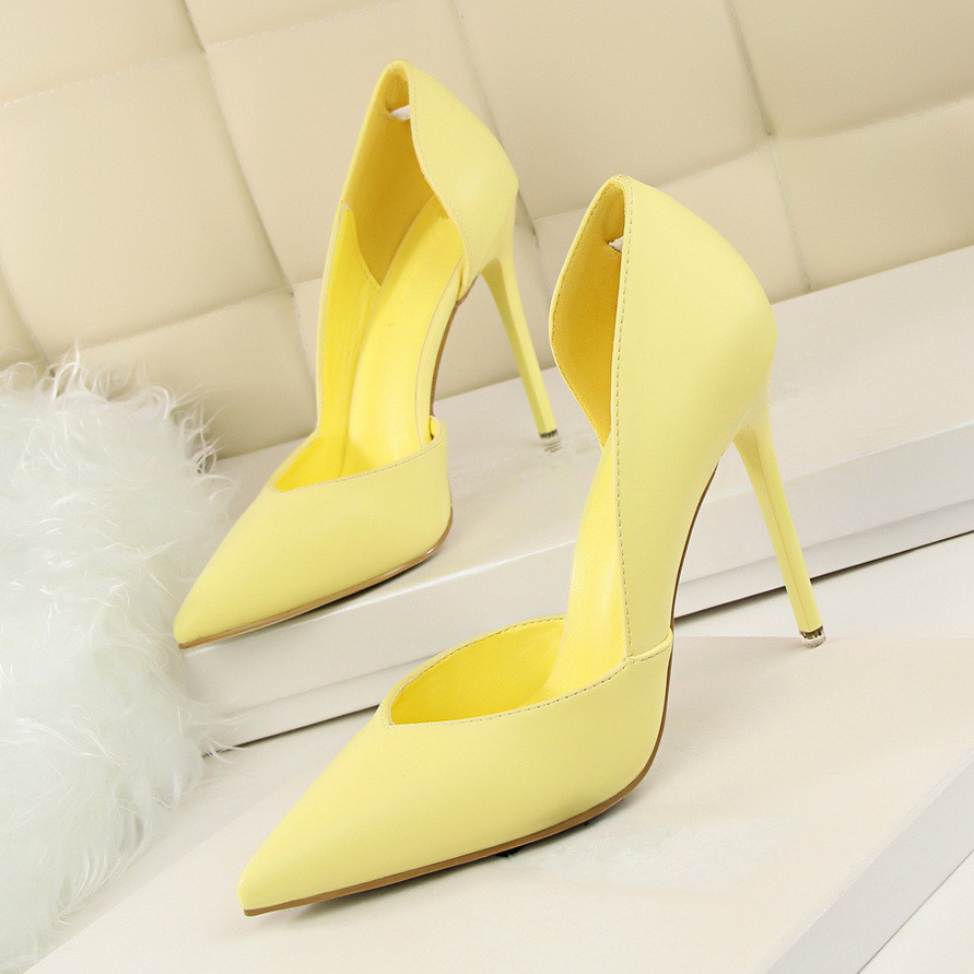 2018 Women Classic Pumps High Heel Shoes Pointed Thin Heeled Sexy Elegant OL Office Shoes Single Women Heels Shoes DS-B0002
