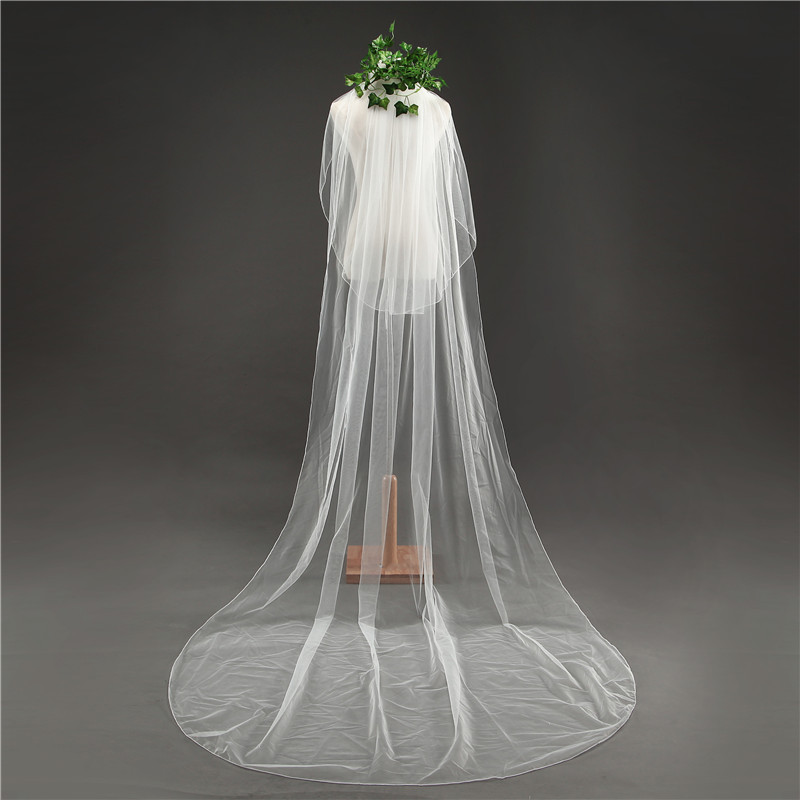 Popodion  Wedding Accessories Cover Face Bride Veil Wedding  Veil With Hair Comb N1034