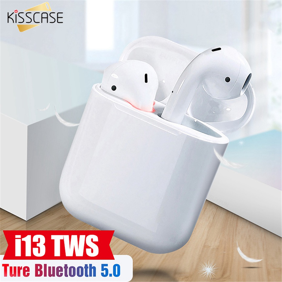 KISSCASE i13 TWS Mini Bluetooth Earphone Earbuds With charging Box Earphone headset for SmartPhone Pad auriculares in Bluetooth Earphones Headphones from Consumer Electronics