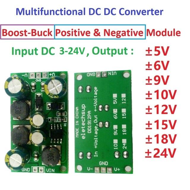 Multifunction DC DC Converter Step Down Dualแรงดันไฟฟ้าโมดูลอินพุต 3 24V + 5V 6V 9V 10V 12V 15V 18V 24V