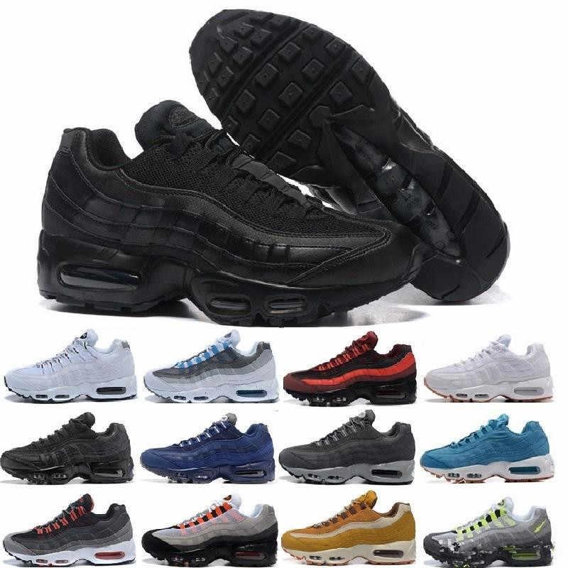 6e09be61de Air Og Max 95 Cushion Navy Sport High-quality Chaussure 95s Walking Boots  Men Casual