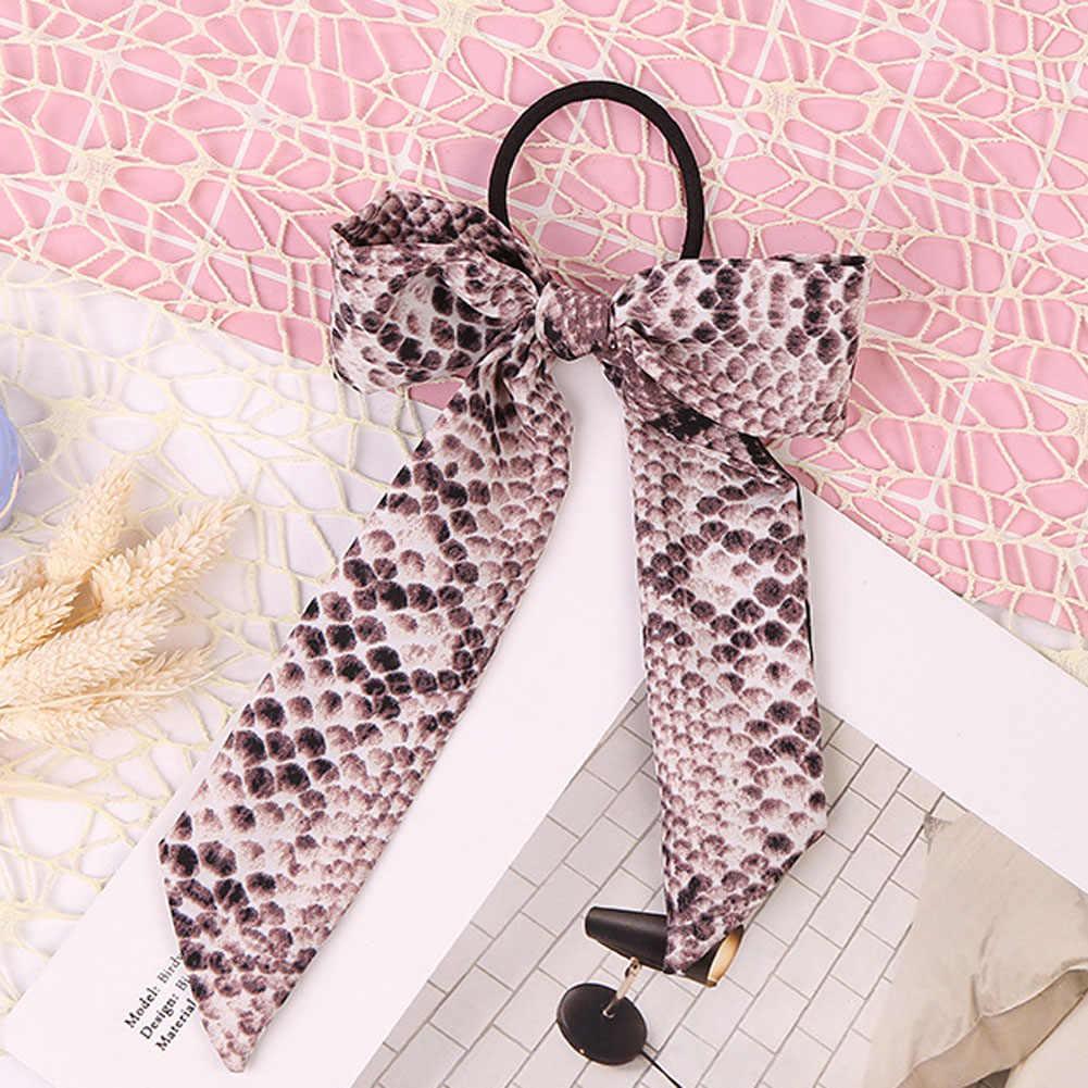 2019 moda leopar yılan desen kızlar için saç bağları elastik saç şerit bantları kadın yay bağları halat saç aksesuarları hediyeler için